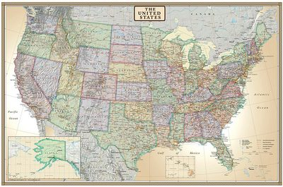 The U.S. Map Poster