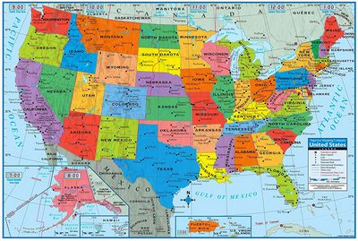 United States Poster Size Wall Map