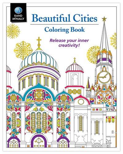 Rand McNally Beautiful Cities Adult Coloring Book