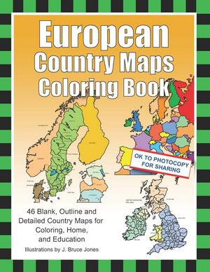 European Country Maps Coloring Book