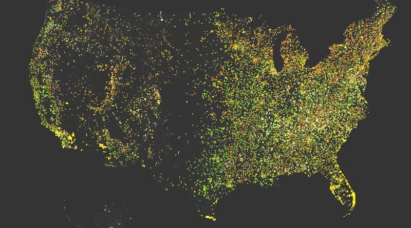 US Toponymic Map