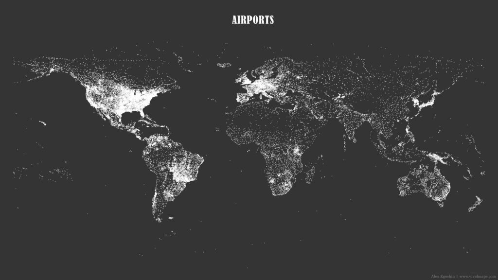 Map of all aiports