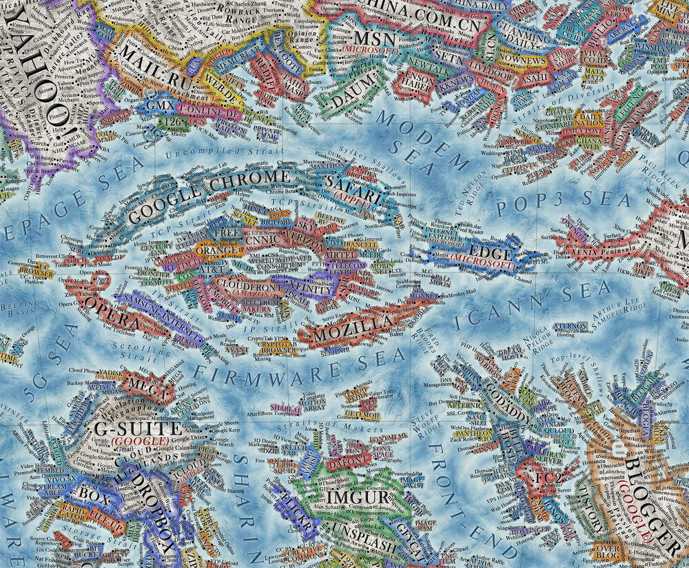 A Detailed World Map of the Internet