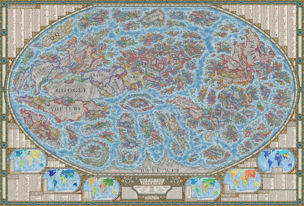 Internet World Map Poster