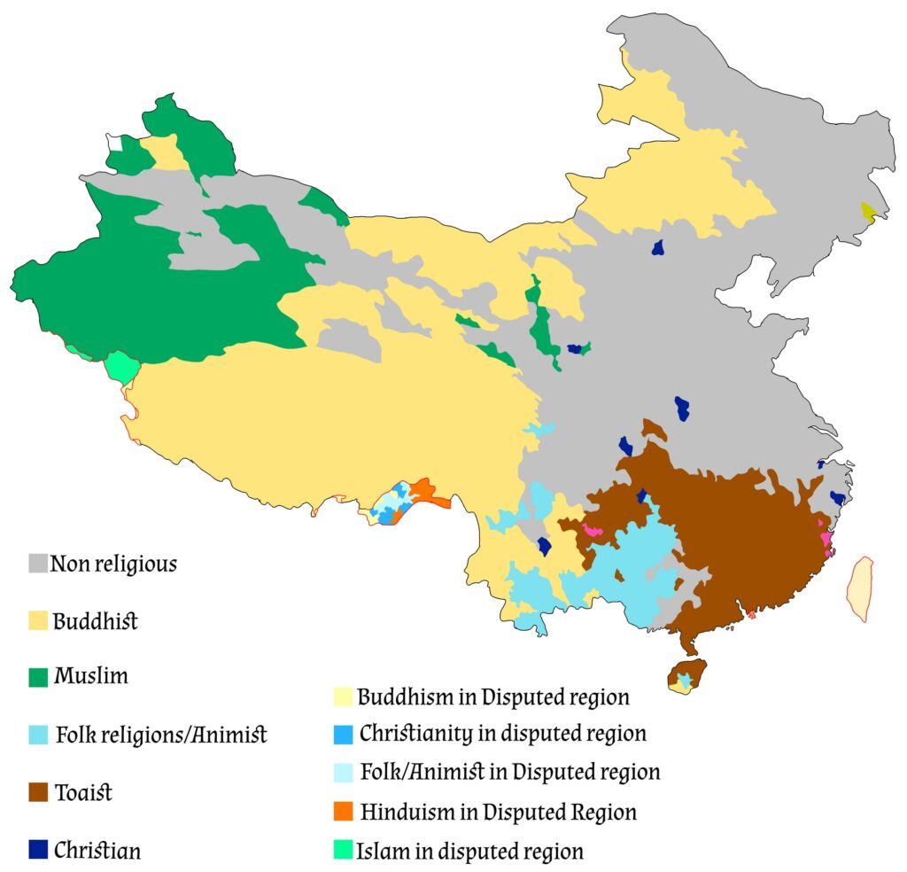 Religion in China mapped