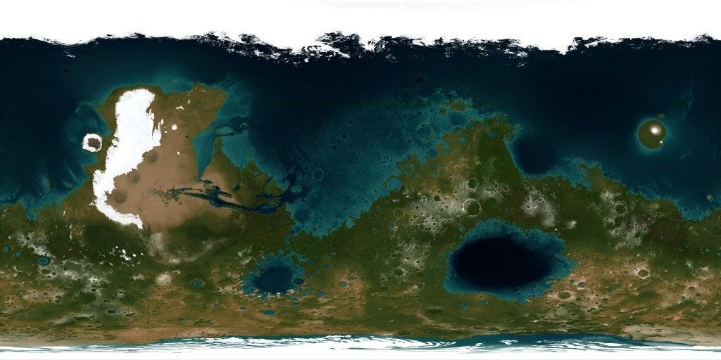 Map of terraformed Mars