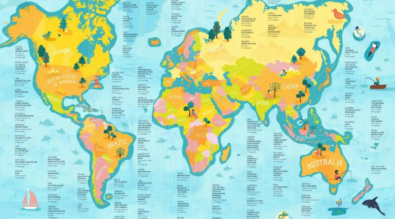 Most translated books of the world mapped
