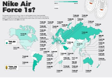 Sneaker Prices, Mapped: Which Countries Pay the Most For Classic Shoes?